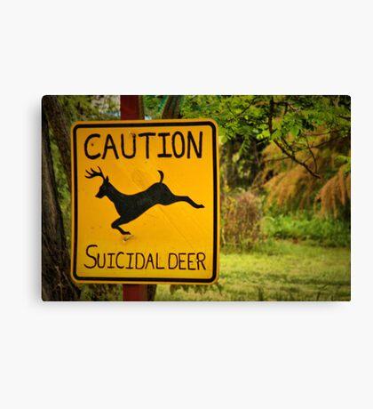 Suicidal Deer Canvas Print