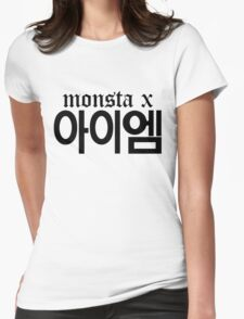 Monsta X I.M Name/Logo Womens Fitted T-Shirt