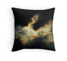 i looked in your eyes and the sky caught fire Throw Pillow
