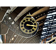 Timepiece - York Station Grand Timepiece. Photographic Print