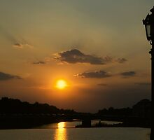 Sunset On The Arno River, Florence by megsphotos