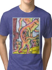 neopolitan butt birth Tri-blend T-Shirt