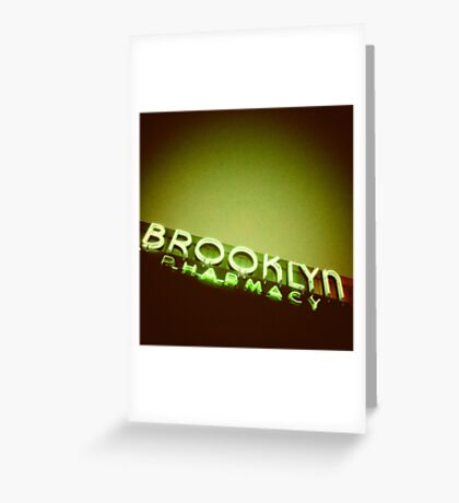 Brooklyn Pharmacy - Portland Oregon Greeting Card