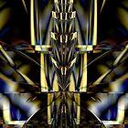 Spire Of Gold & Cobalt Blue by xzendor7