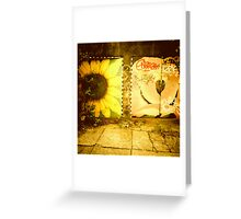 Flowery Garage - Portland, Oregon Greeting Card