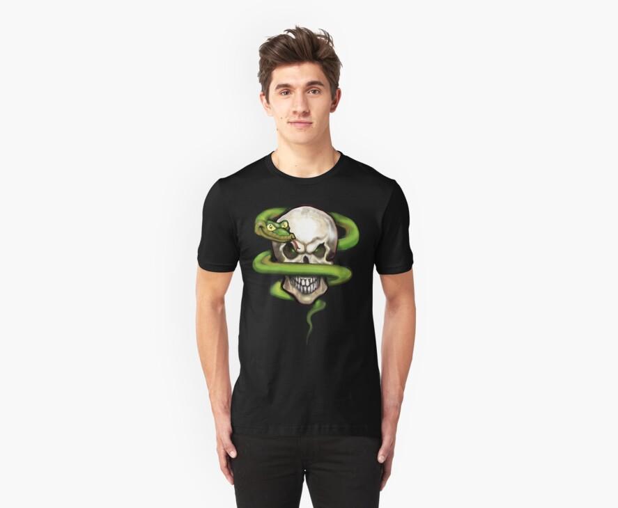 Serpent Evil Skull by Kevin Middleton