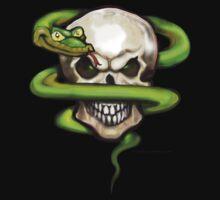 Serpent Evil Skull Pocket Tee by Kevin Middleton
