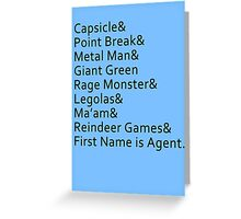 Nicknames Greeting Card