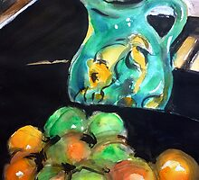 Jug with Fruit by Peter Johnson
