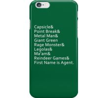 Nicknames iPhone Case/Skin
