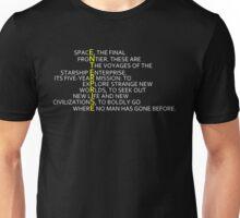 The Final Frontier: Enterprise Unisex T-Shirt