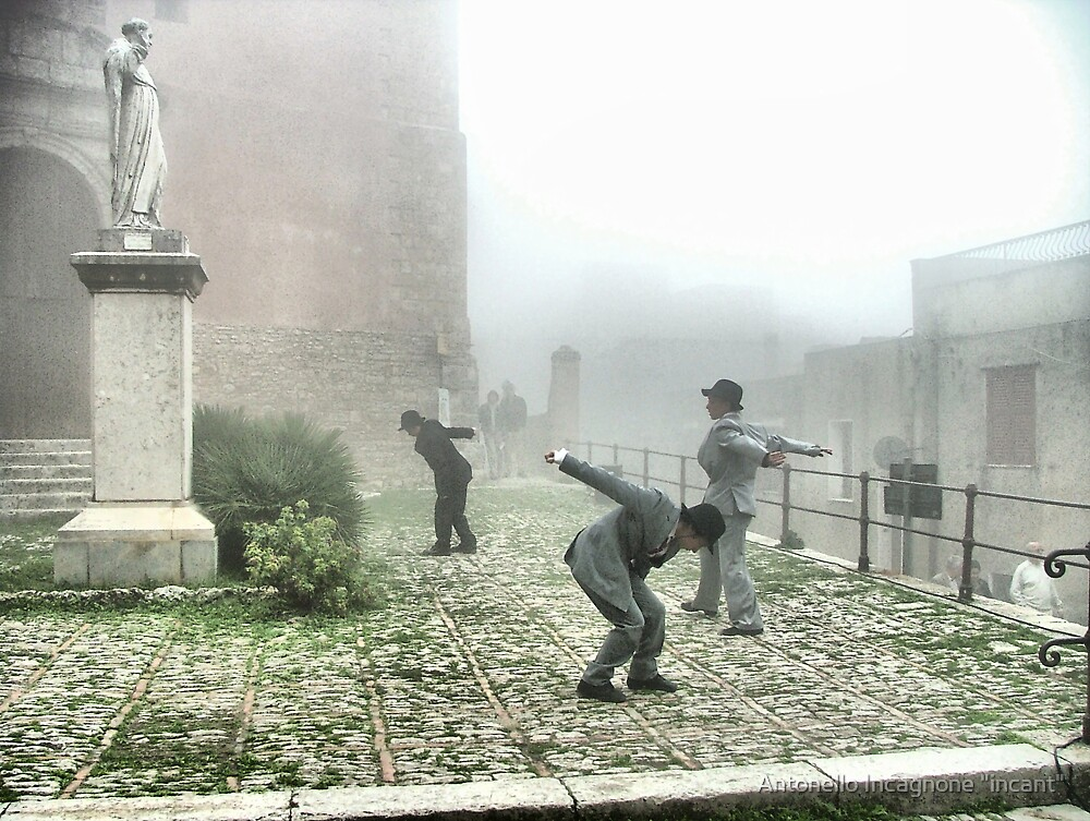 "Performing in the fog 3 by Antonello Incagnone ""incant"""