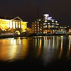 Ipswich Customs House and Docks at Night by wiggyofipswich