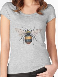 A painting of a bumblebee Women's Fitted Scoop T-Shirt