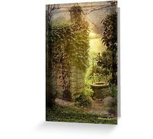 Wishing Well Outside the Garden Wall Greeting Card