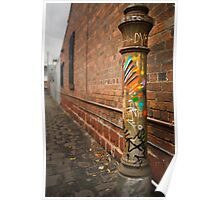 Painted Lamp Post Poster