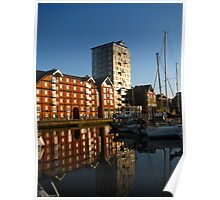 Apartments on the Quay, Ipswich, Suffolk Poster
