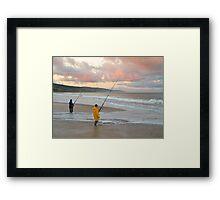 Ocean Fishing, Apollo Bay, Victoria. Framed Print