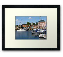Afternoon On The Ipswich Waterfront Framed Print