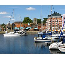 Afternoon On The Ipswich Waterfront Photographic Print