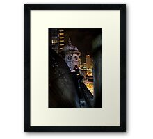 A batmanesque caped crusader Framed Print