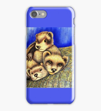 Ferret Layer cake  iPhone Case/Skin