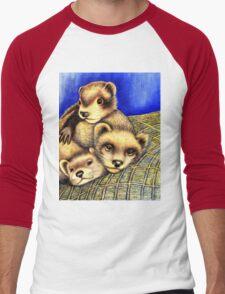Ferret Layer cake  Men's Baseball ¾ T-Shirt