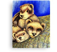 Ferret Layer cake  Canvas Print