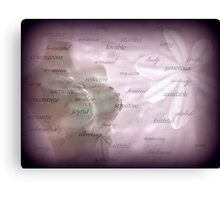 A Tribute to Mum. 3 Canvas Print