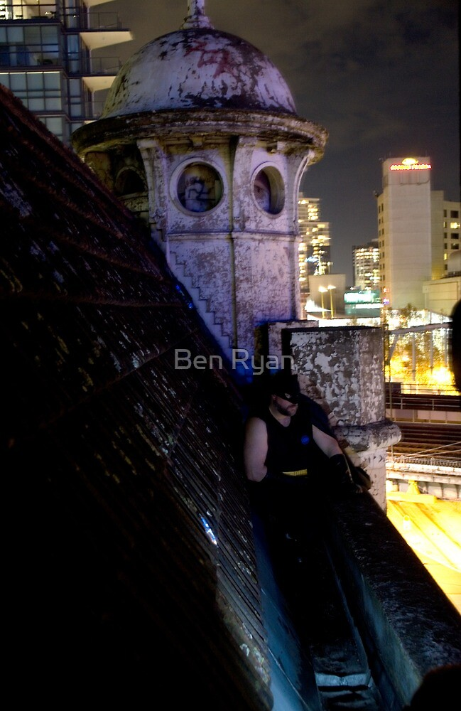 A caped crusader watches over gotham by Ben Ryan