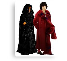 Doctor Who - Fourth Doctor and The Master Canvas Print