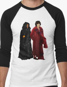 Doctor Who - Fourth Doctor and The Master Men's Baseball ¾ T-Shirt