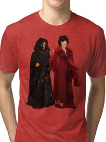 Doctor Who - Fourth Doctor and The Master Tri-blend T-Shirt