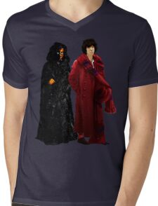 Doctor Who - Fourth Doctor and The Master Mens V-Neck T-Shirt