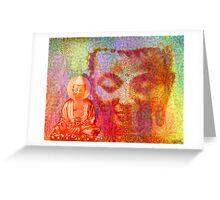 Buddha Collage Greeting Card