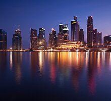 Singapore Skyline II by riotvan