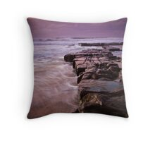Rocks out to Lady's Surfing Break, Merewether Beach Throw Pillow