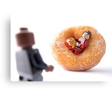 Sir, I'm going to have to ask you to exit the donut! Canvas Print