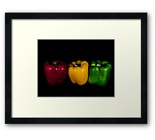 Red,Yellow and Green Framed Print