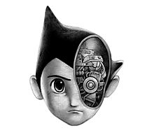 Robot Boy Photographic Print