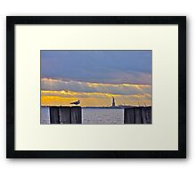 Stillness in Battery Park Framed Print