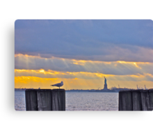 Stillness in Battery Park Canvas Print