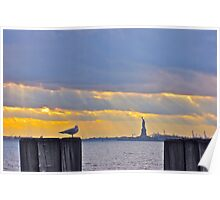 Stillness in Battery Park Poster