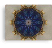 Blue Bead Kaleidoscope Canvas Print