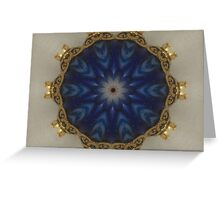 Blue Bead Kaleidoscope Greeting Card