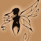 a fairy silhouette antique by GothicMoonlight