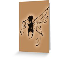 a fairy silhouette antique Greeting Card