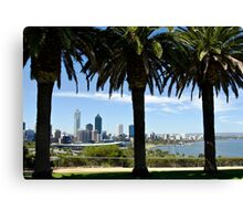 Perth city skyline in Western Australia Canvas Print