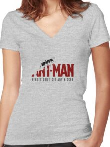 Antman Women's Fitted V-Neck T-Shirt