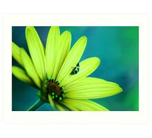 Pretty Bug Green Art Print